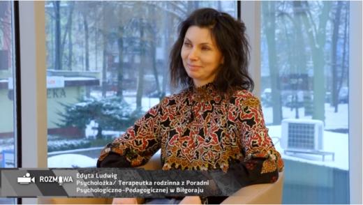 Rozmowa dla Telewizji Biłgorajskiej z naszym psychologiem - panią Edytą Ludwig