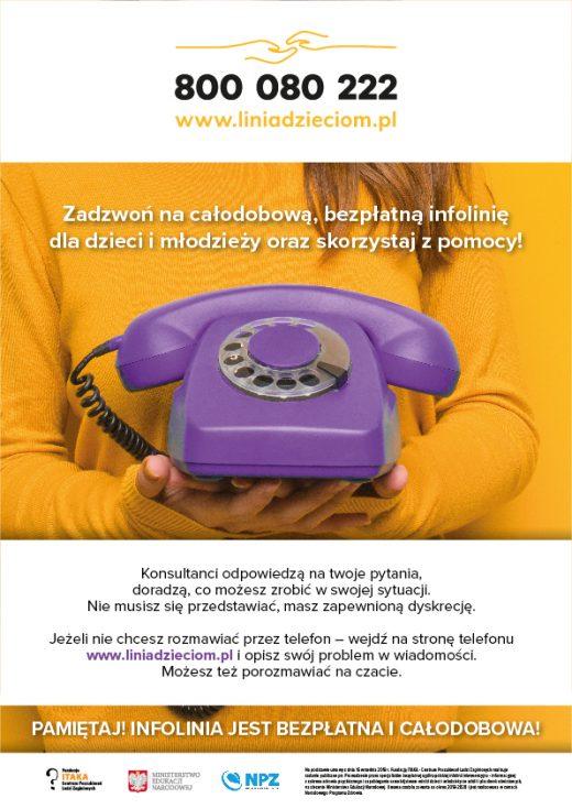 liniadzieciom.pl - Konsultacje bezpłatne Telefon Zaufania 800080222