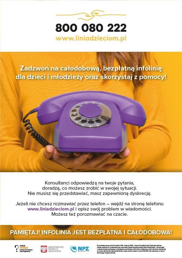 Konsulatacje bezpłatne Telefon Zaufania 800080222